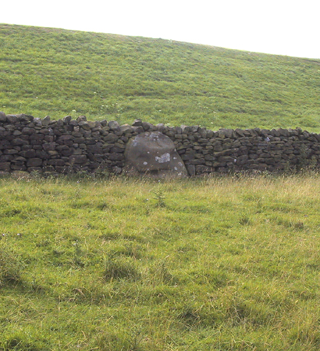 Possible Standing Stone in walling close to Standing Stone Road crossroads