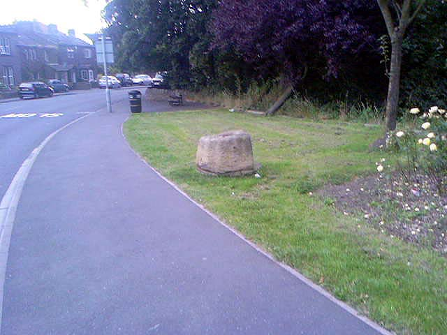 Exley Head Cross base, at roadside