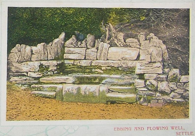 Early postcard of this famous well