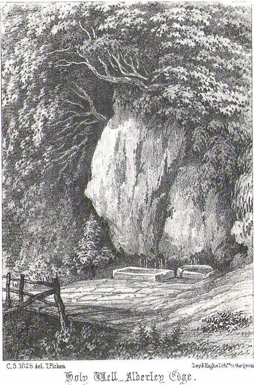 Alderley Edge's Holy Well in 1828