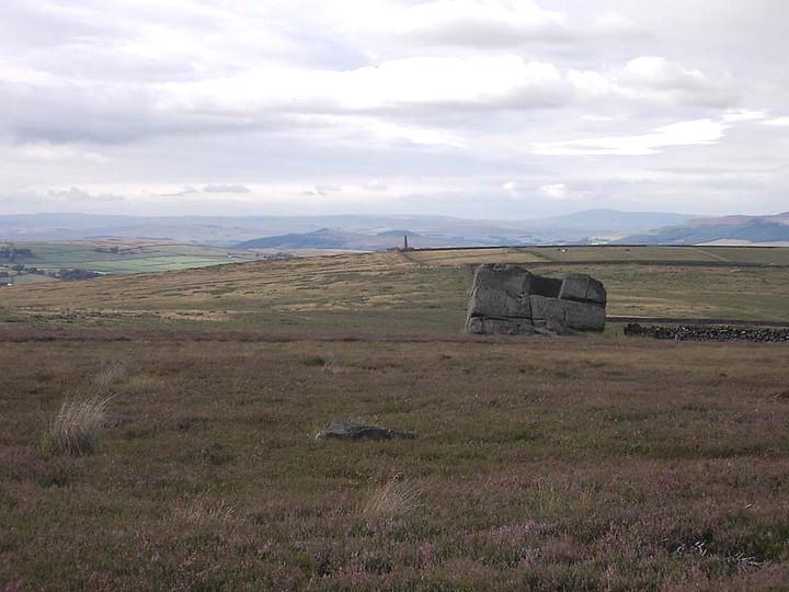 The Hitching Stone, looking north