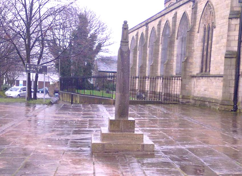 Keighley Cross, on a grey wet day!