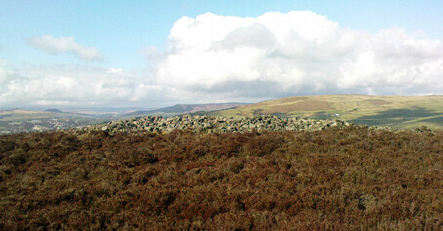 The Black Hill Round Cairn, Bradley Moor - looking north
