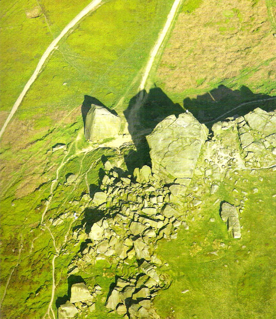 Cow & Calf Rocks from above - thanks to Jason Hawke's superb 'Yorkshire from the Air'