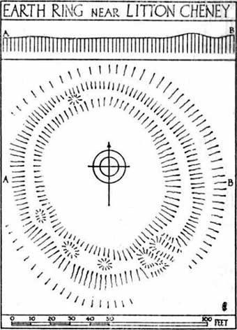 Lay-out of the circular remains, by O.G.S. Crawford