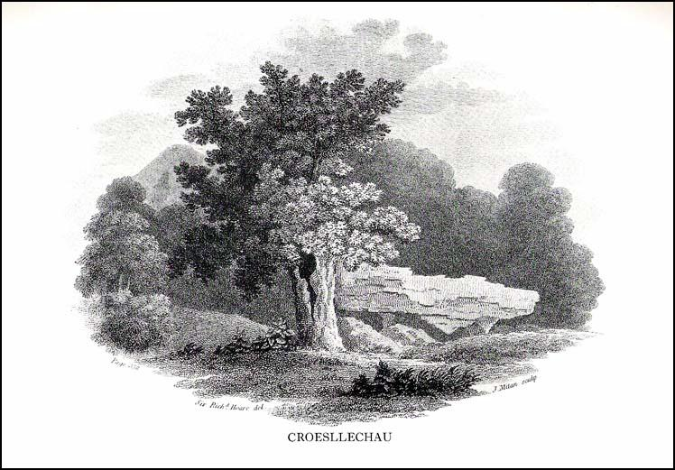 Croesllechau tomb in 1809