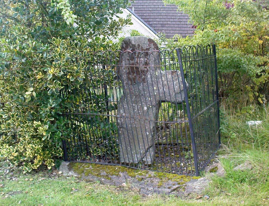 Dull Cross behind bars
