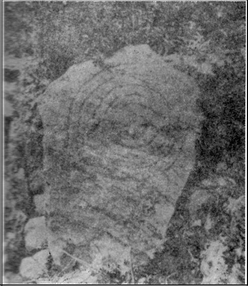 Only known photo of the stone