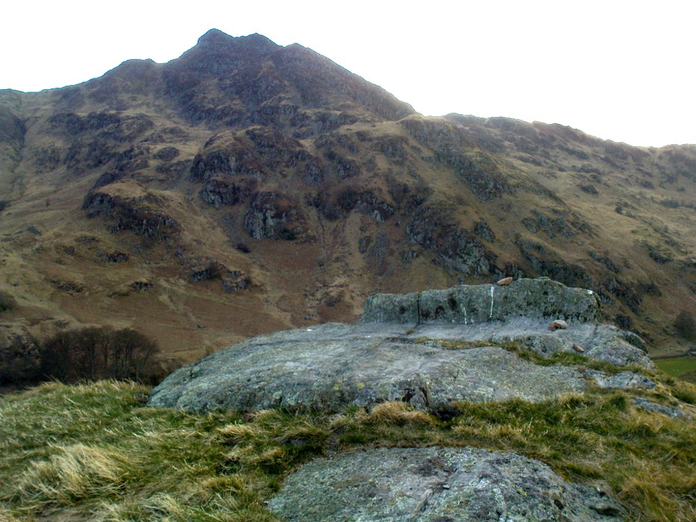 The rocky bed or 'chair' of St Fillan