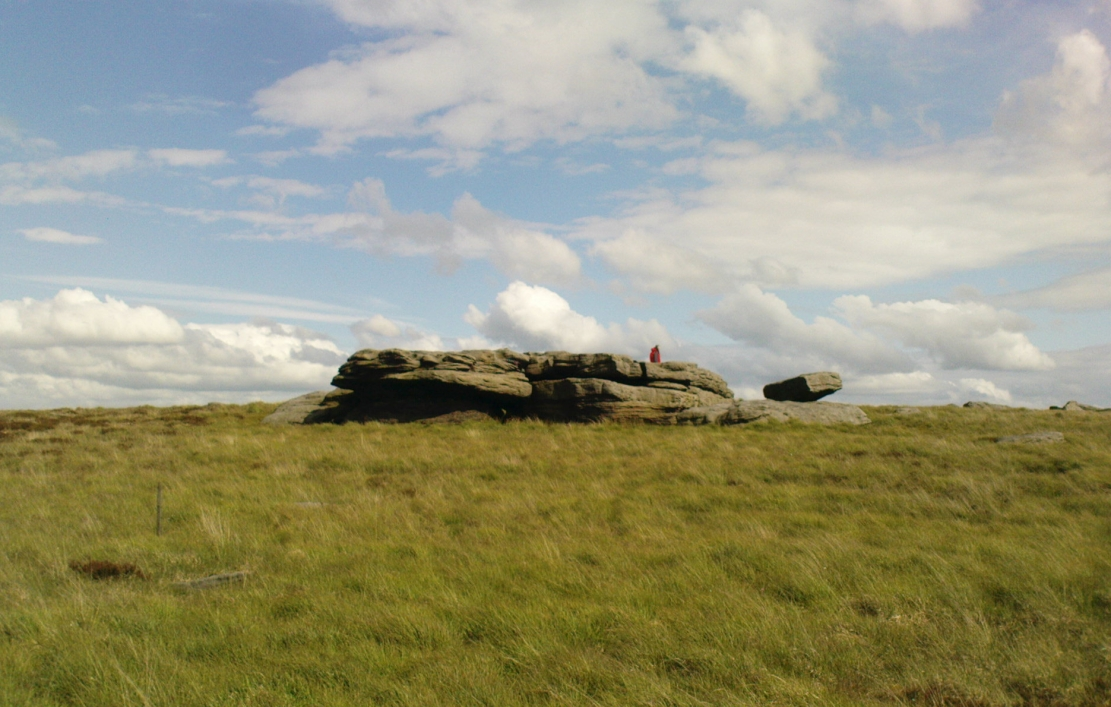 The old rocking stone, on the right