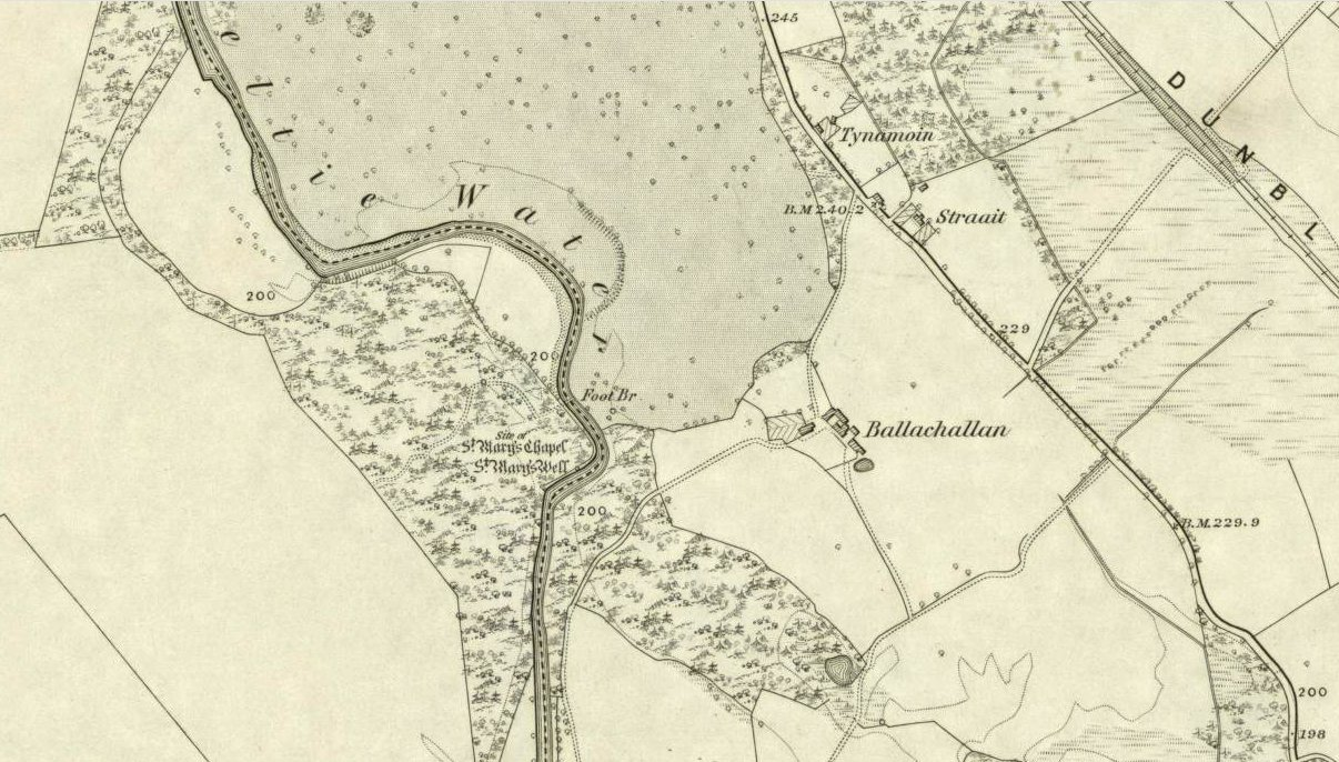 St Marys Well on 1862 OS-map