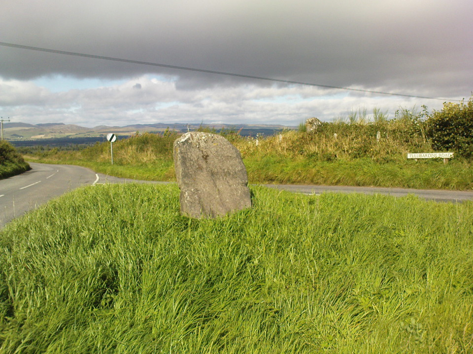 Easthill stone at the roadside