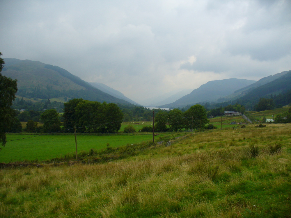 Looking down Balquhidder Glen from the Clach nan Sul's old home