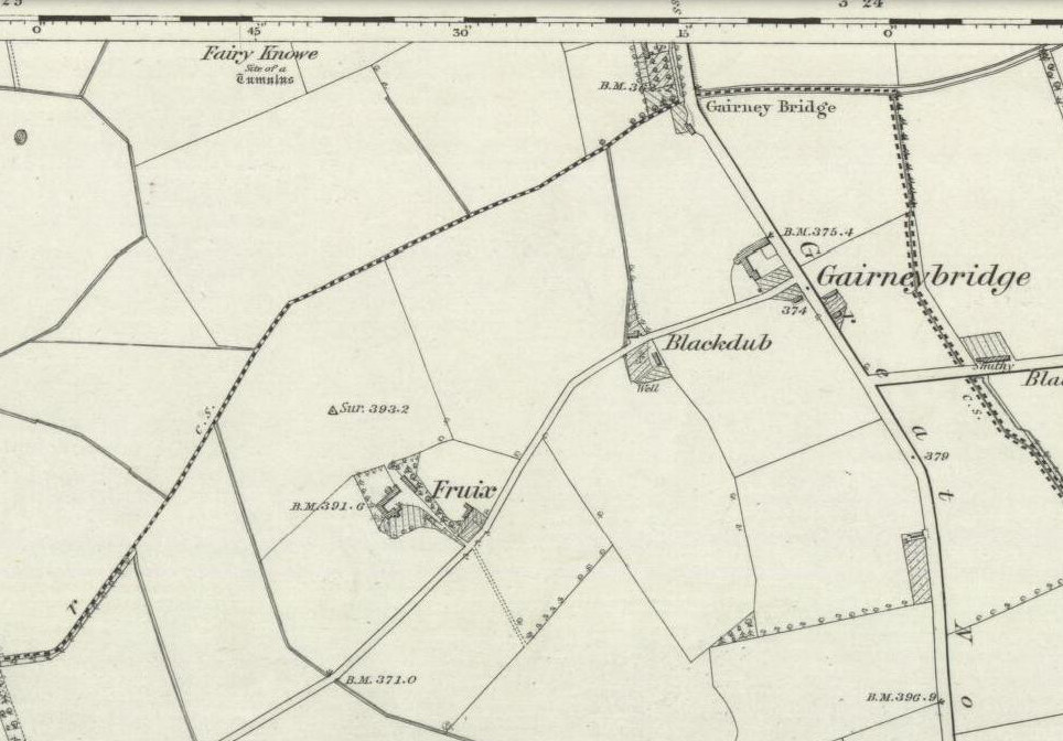 "1856 OS-map, showing ""site of"" the old tumulus"