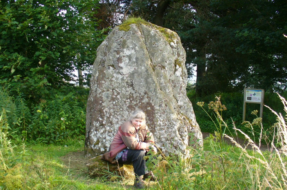 The Kirriemuir Stone, with a curious elemental at its base!