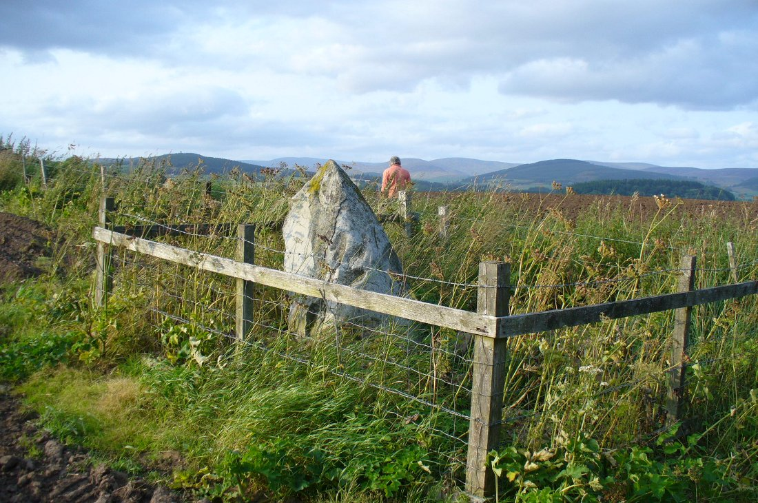 Caddam stone, looking north