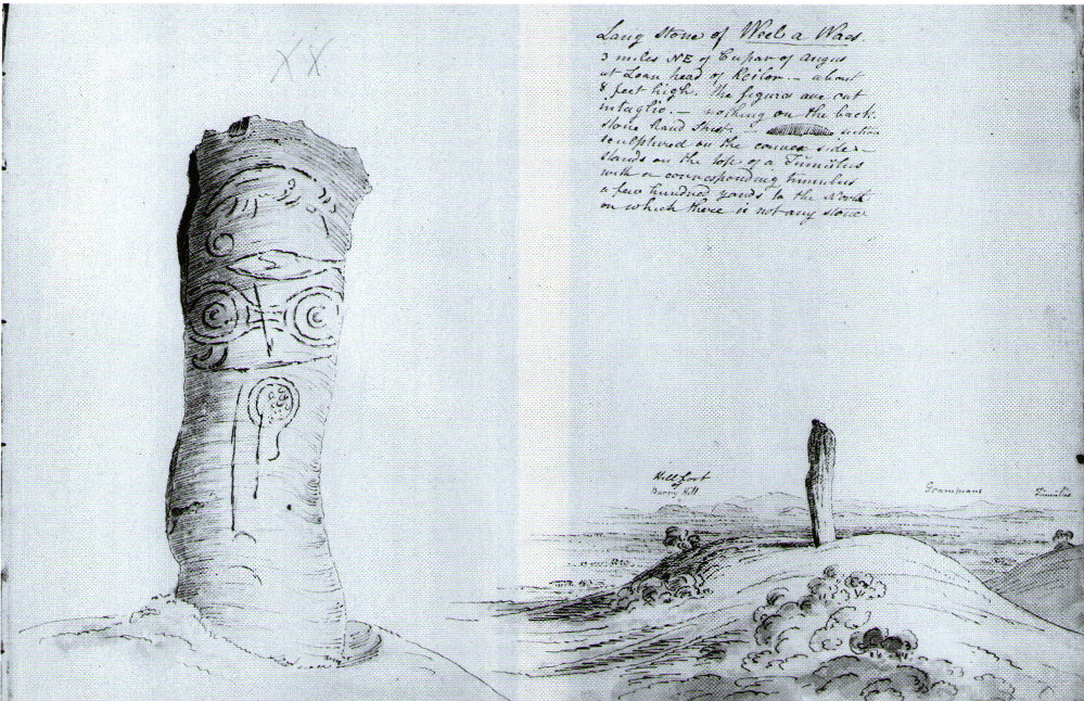 W.J. Skene's 1832 drawing