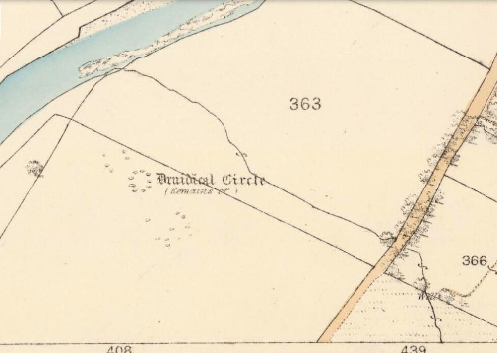 Loupin Stanes on 1862 map