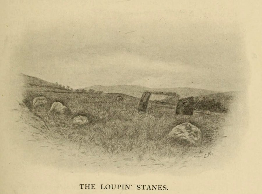 Hyslop's old drawing of the Loupin Stanes
