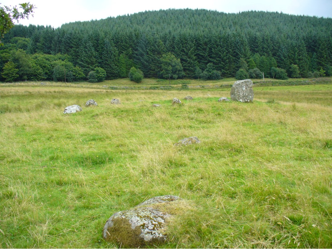 Remains of possible avenue, from the Esk to the Stanes