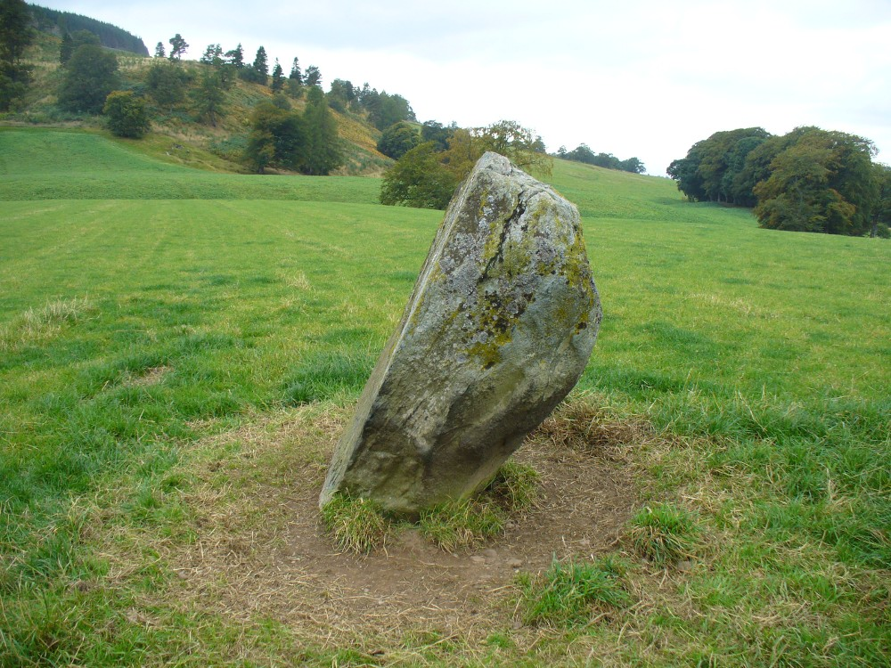 The southern flat face of the Witches Stone