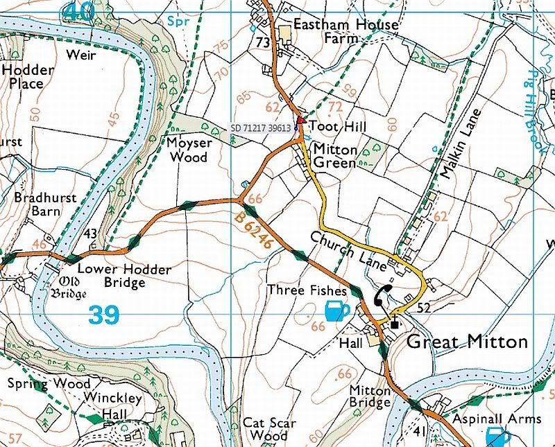 Mitton Gree-map