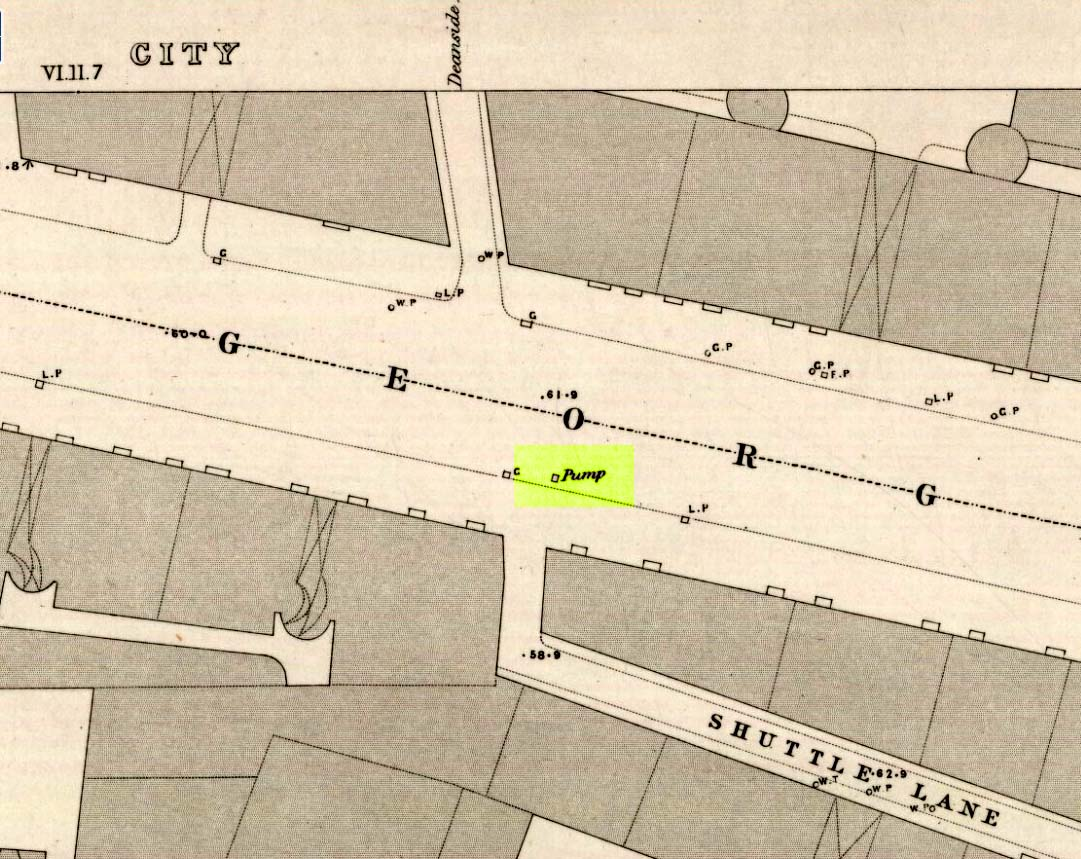 Probable site of Deanside Well, 1857