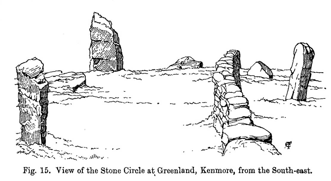 Coles' 1910 sketch of the site