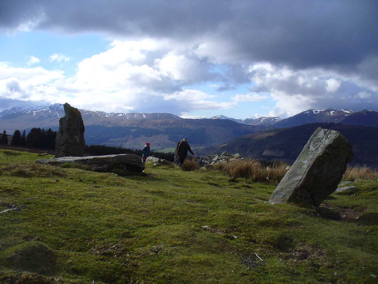 The atmospheric ring, looking W
