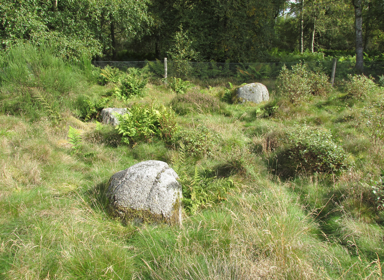 Three stones - once part of a circle?
