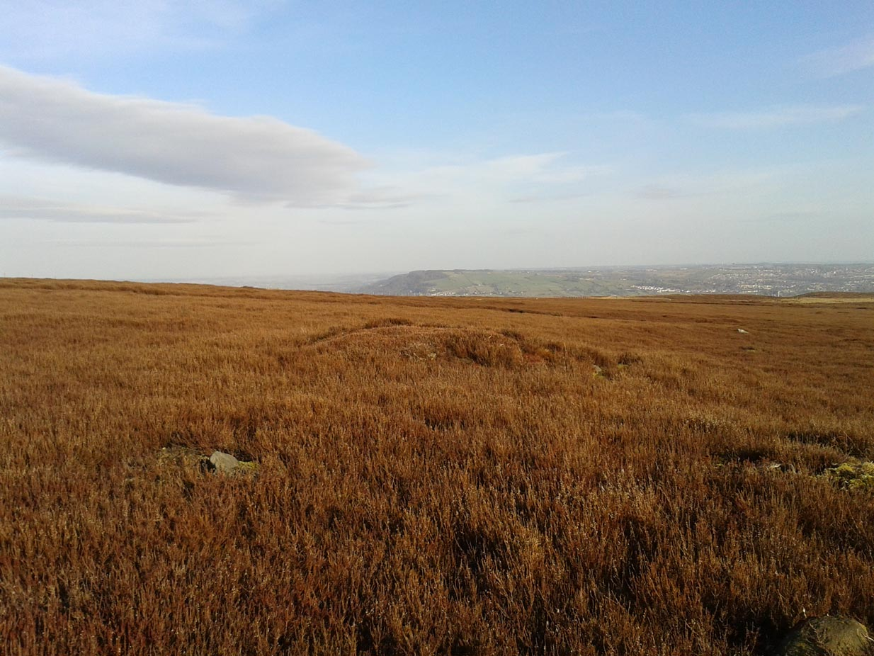 One of Hawksworth Moor's cairns