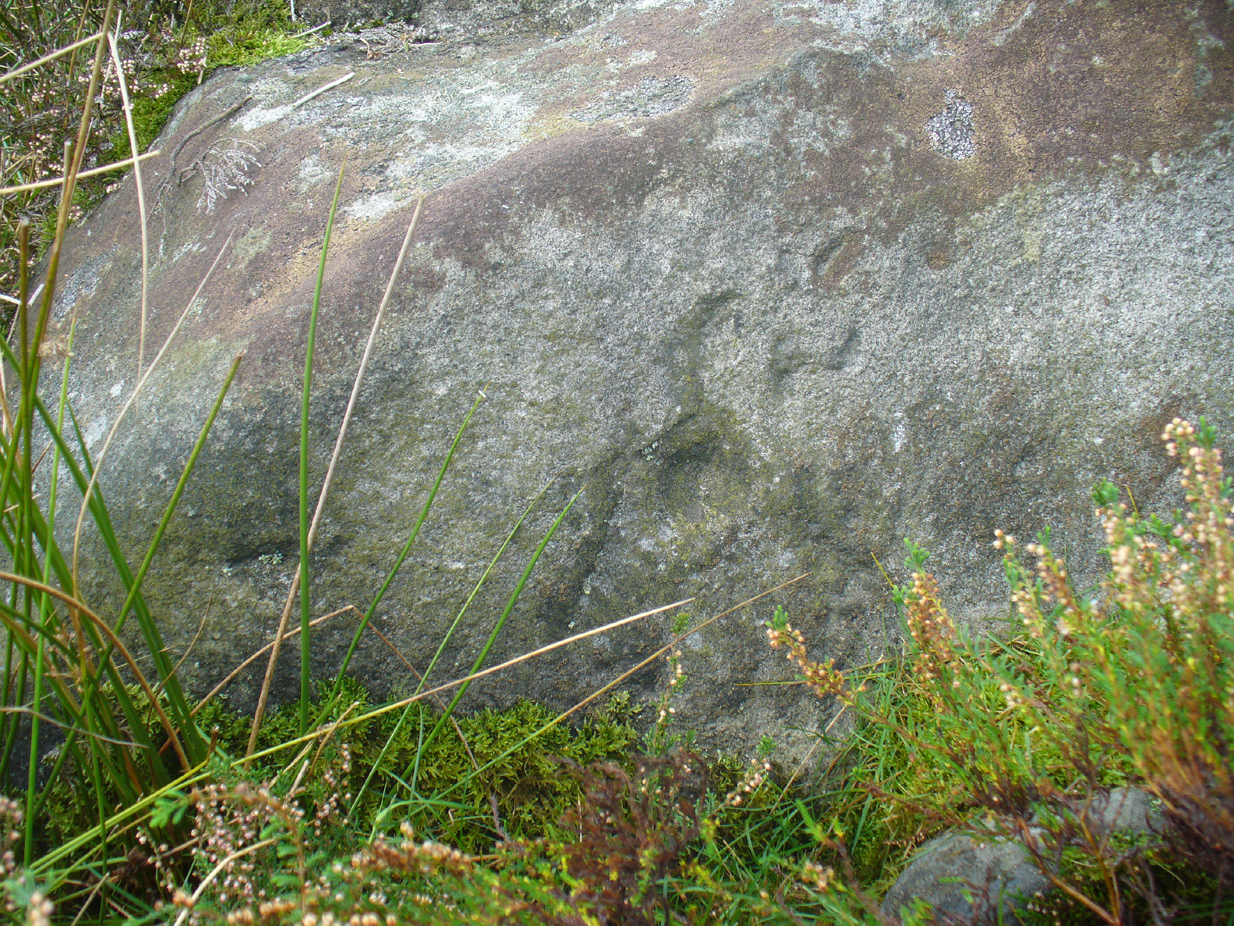 'Cup mark' on vertical face