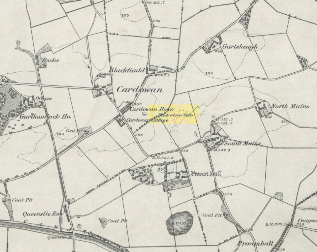Site location on 1864 map