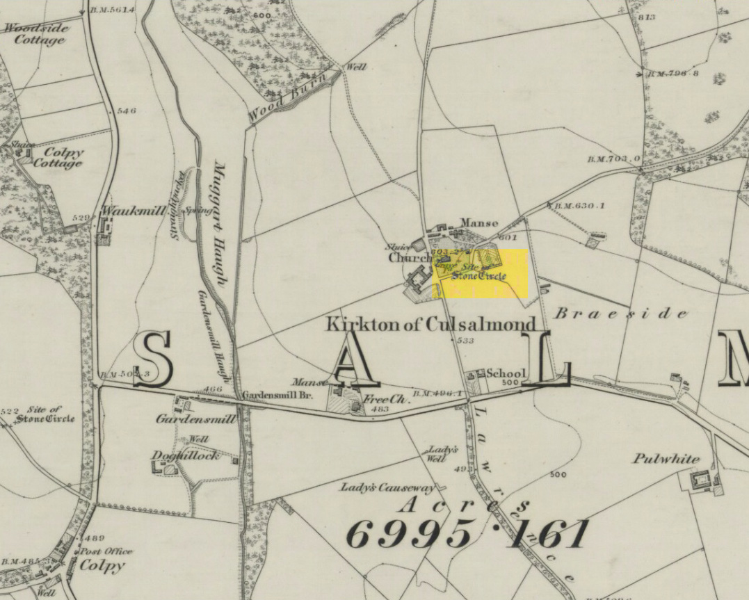 Site of the circle on 1873 map