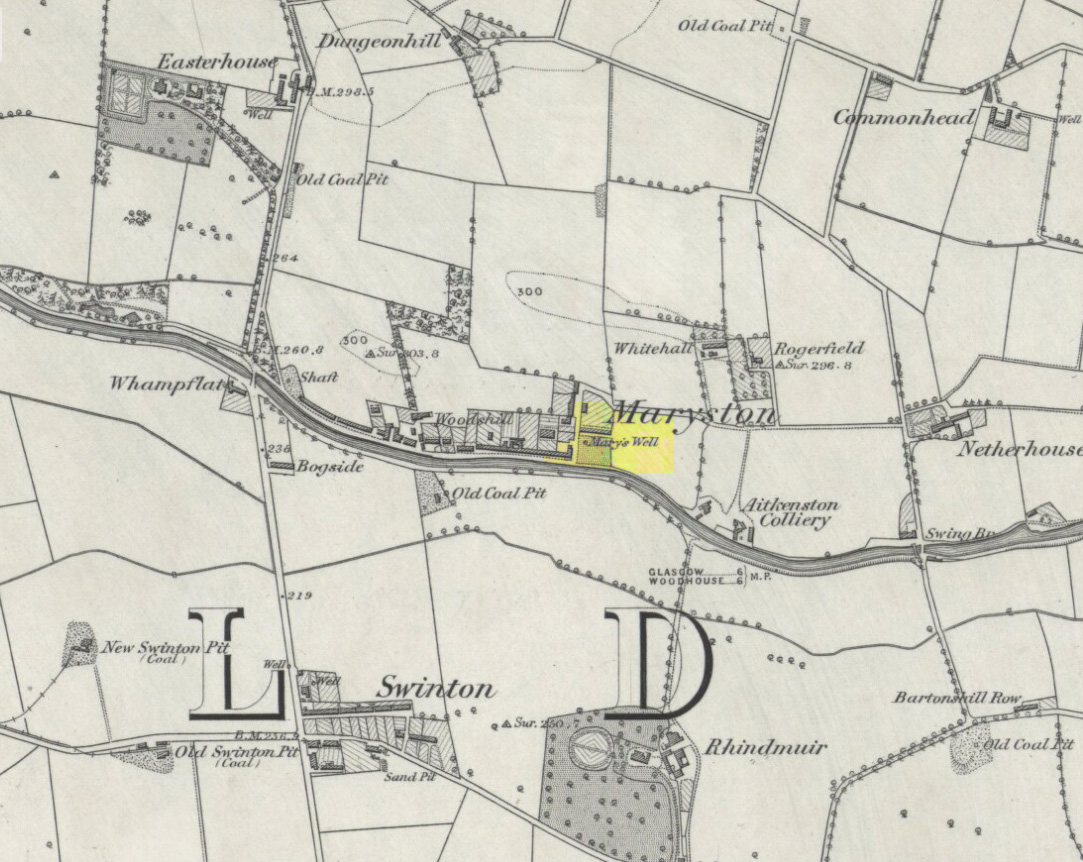 Mary's Well on 1864 OS-map