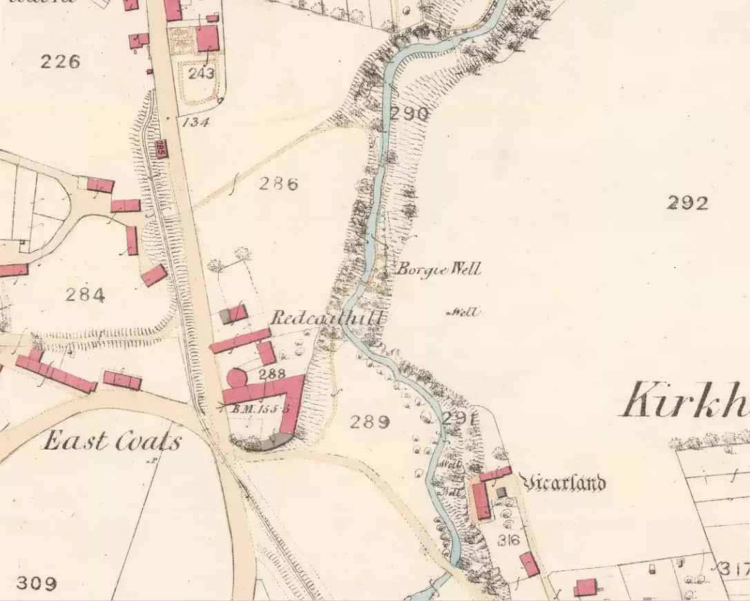Borgie Well on the 1859 map