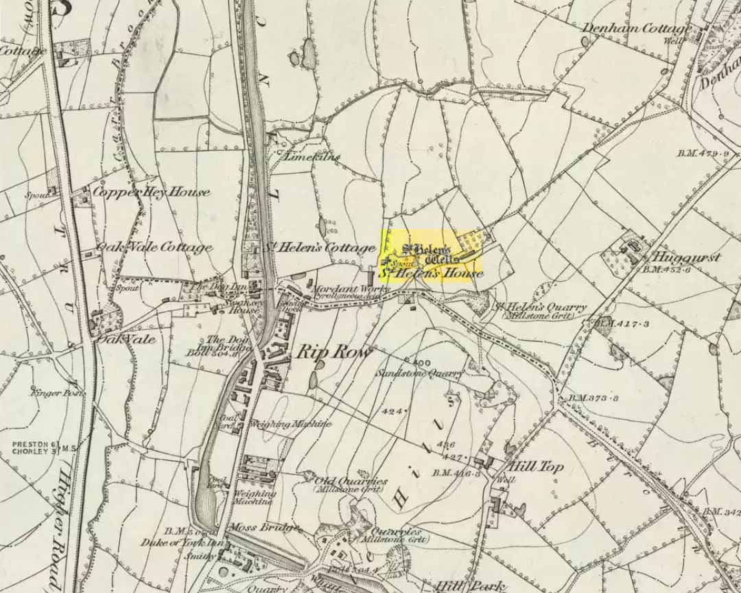 St Helen's Well on 1848 map