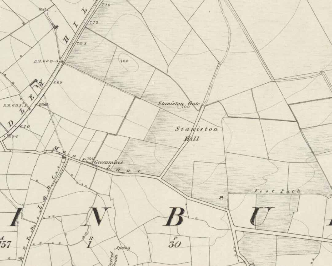Staniston Hill on 1851 map