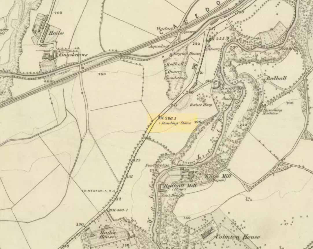 Cloven Stone on 1855 map
