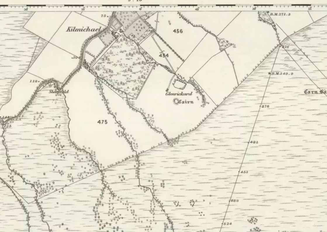 Glenrickard on 1868 map