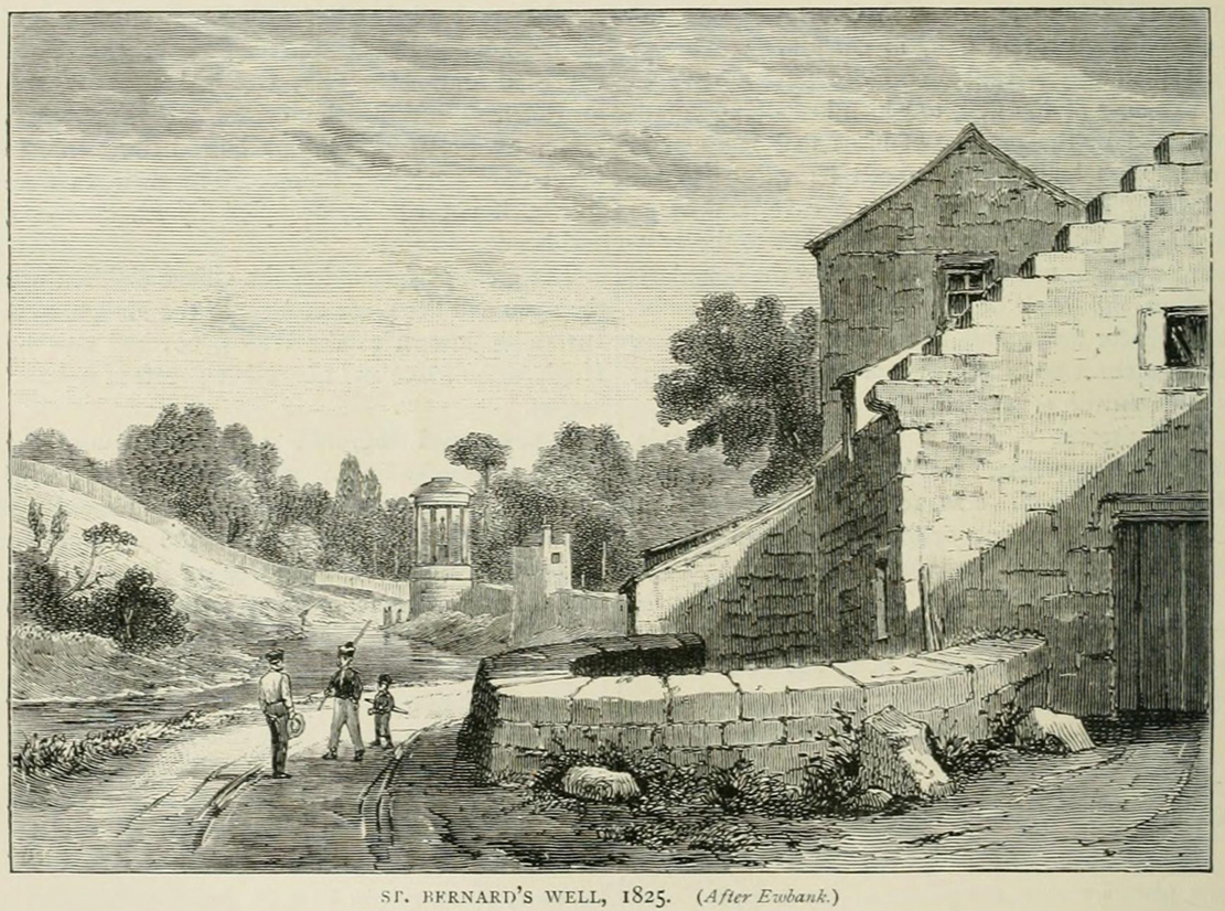 St Bernards Well in 1825