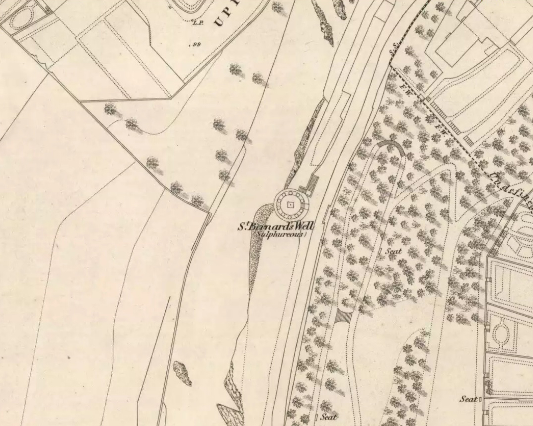 St Bernards Well on 1851 map