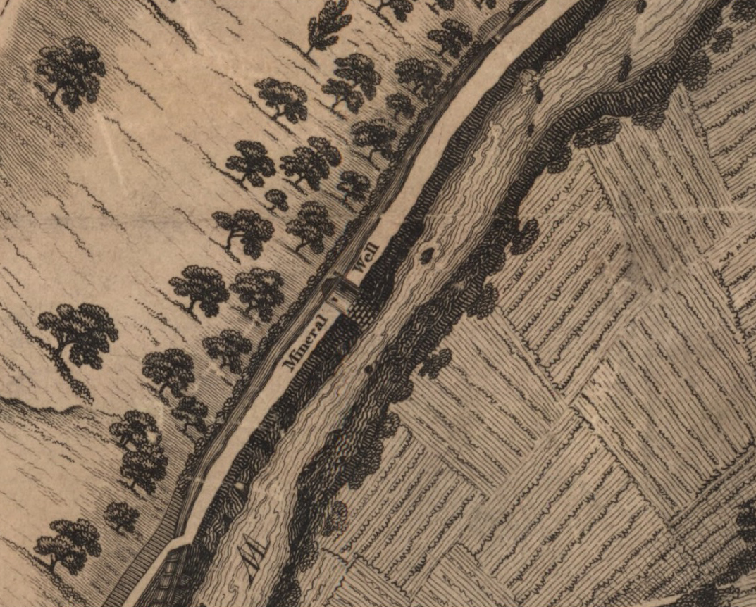 St Bernards Well on the 1819 Kirlands map