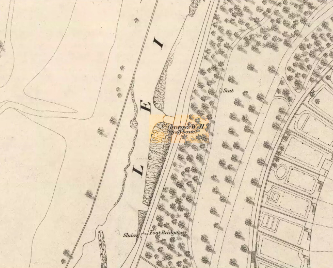 St George's Well on 1851 map